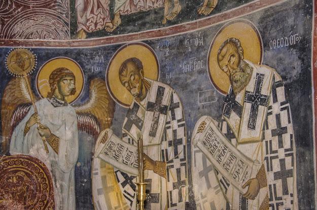 Fresco painting - St. Nicholas Monastery (XI cent.), Manastir village