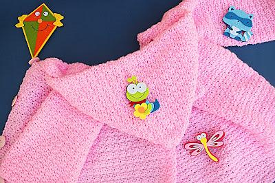 1 - Crochet Imagen Capucha de abrigo rosa por Majovel Crochet