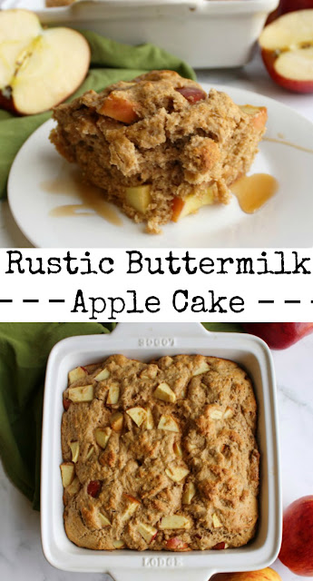 Loaded with fresh apples, this rustic buttermilk cake is easy to put together and absolutely fabulous to eat. Serve it as a coffee cake, snack cake or for an easy dessert.