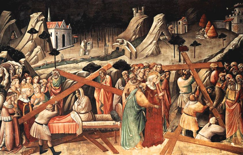 The Legend of the True Cross, painted by Agnolo Gaddi