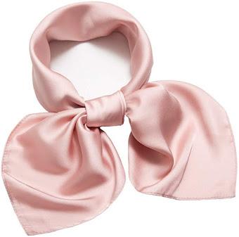 Plain Shiny Pink Satin Scarves Wholesale