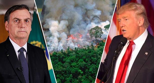 حرائق الأمازون.. قرار رئاسي وترامب يتدخل