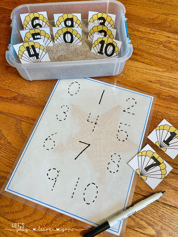 Ocean Number Tracing Activity Free
