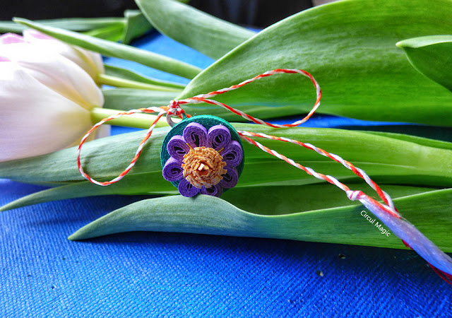Martisor Handmade Floare Norocel Circul Magic Quilling