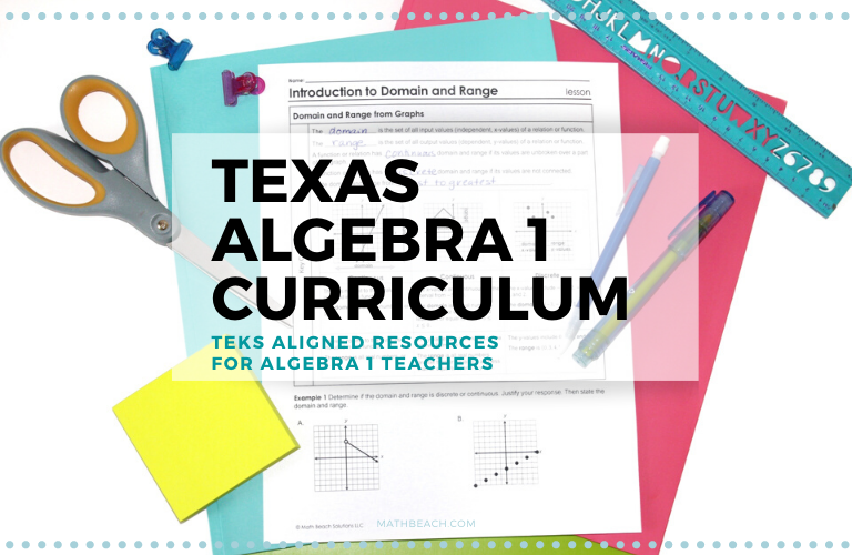 Texas Algebra 1 Curriculum