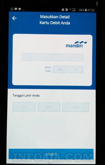 Lupa password mandiri online