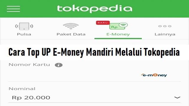 Cara Top UP E-Money Mandiri