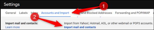 كيفية استيراد حساب البريد الإلكتروني القديم والرسائل إلى بريد جيميل Gmail
