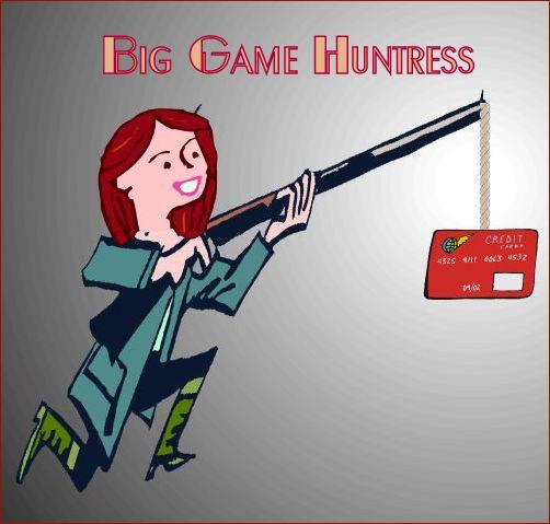 Big Game Huntress | Graphic designed by and property of www.BakingInATornado.com