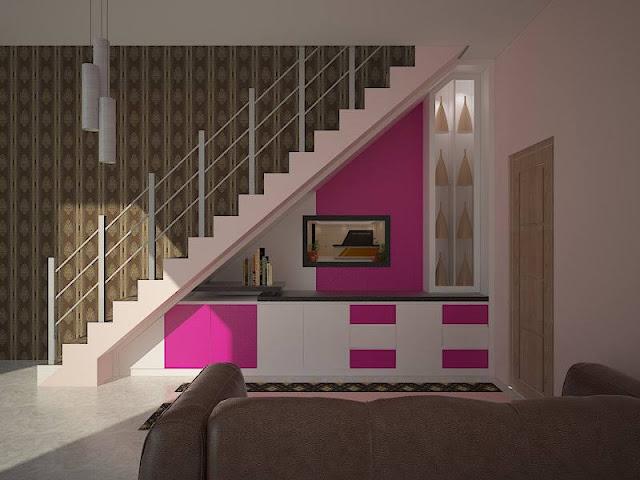 Rak tv bawah tangga