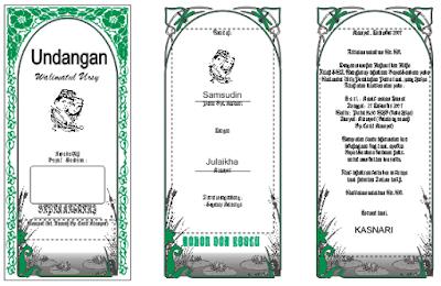 download desain undangan pernikahan lipat tiga terbaru bisa diedit cdr word