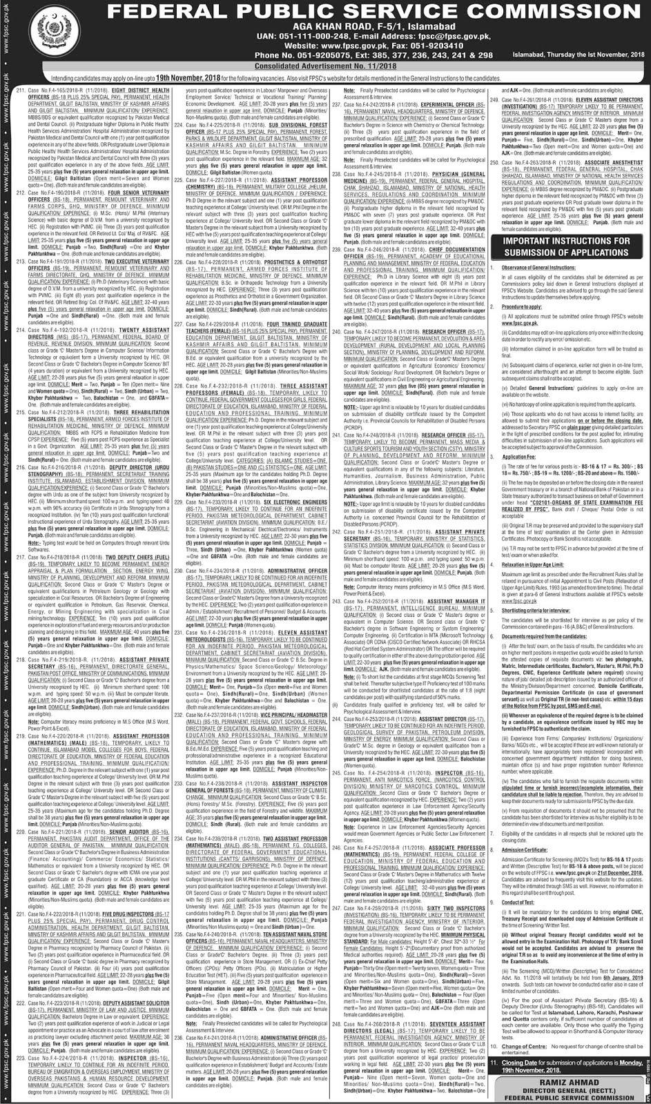 Islamabad Latest Jobs 2019
