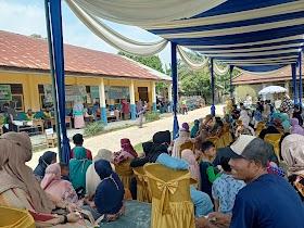 Vaksinasi Masal Desa Sekernan, Masyarakat Antusias ikuti vaksin