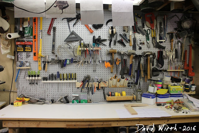 pegboard storage, tools