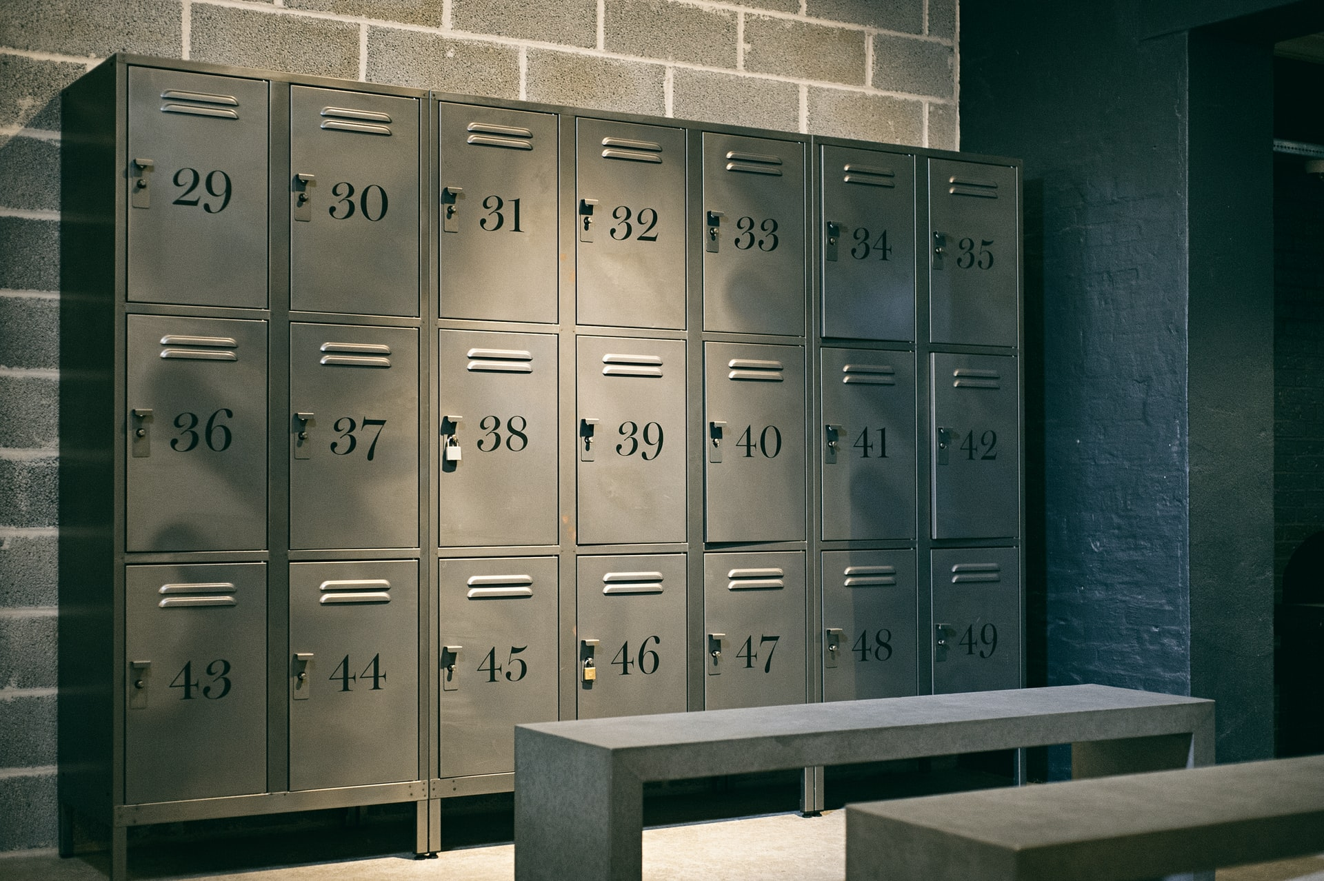 Anecdotes 13 | Gray Metal Lockers