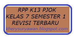 File Pendidikan RPP k13 PJOK Kelas VII Semester 1 Revisi 2019