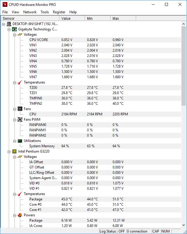 تحميل  برنامج ممتاز لمعرفة معلومات تفصيلية عن جهازك الكمبيوتر CPUID HWMonitor Pro 1.42