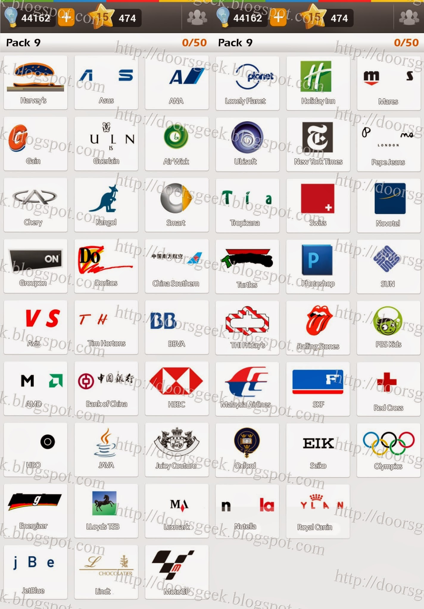 Brand Logo Game Answers 29