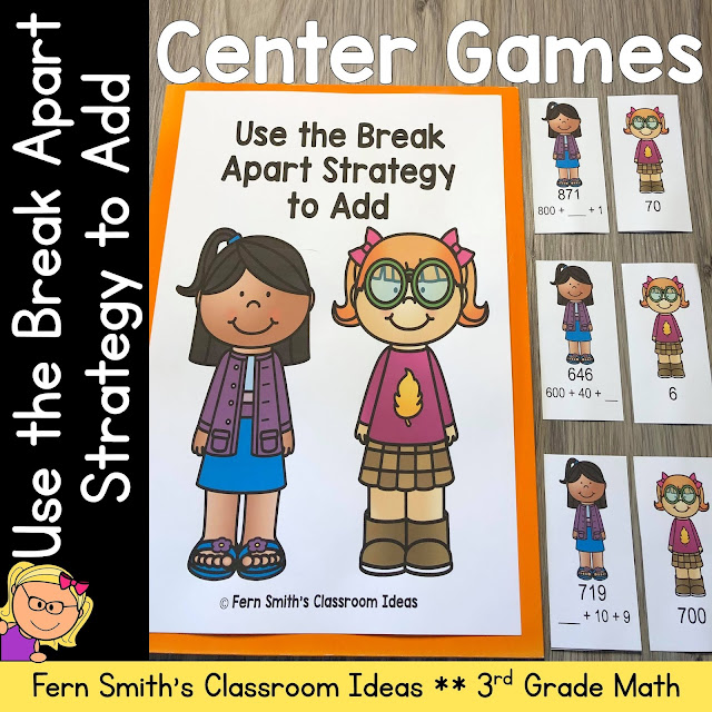Click Here to Download This 3rd Grade Go Math 1.6 Use the Break Apart Strategy to Add Center Games Resource For Your Classroom Today!