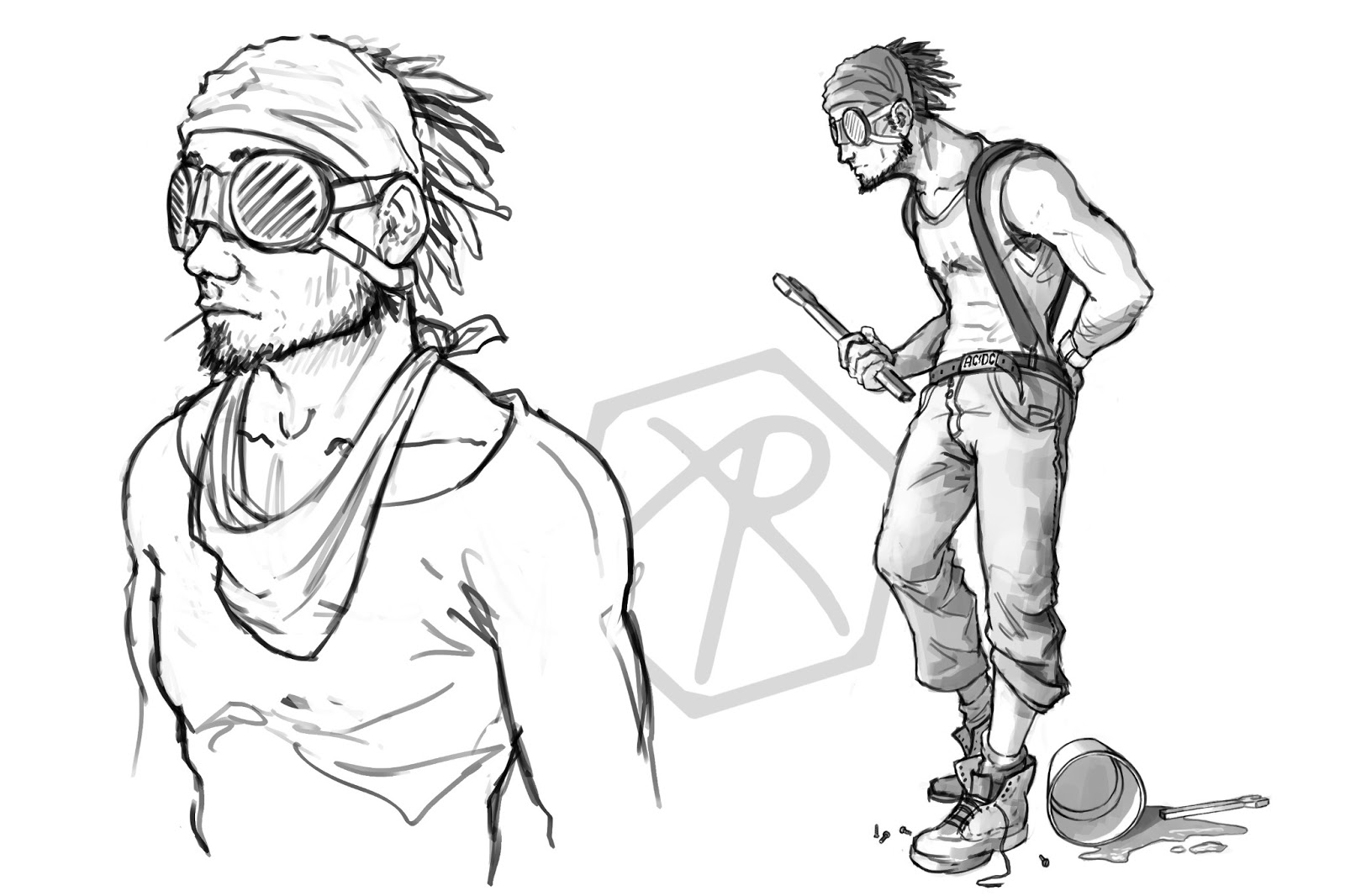 Sketches & Work in Progress   Alex Robinson Illustration
