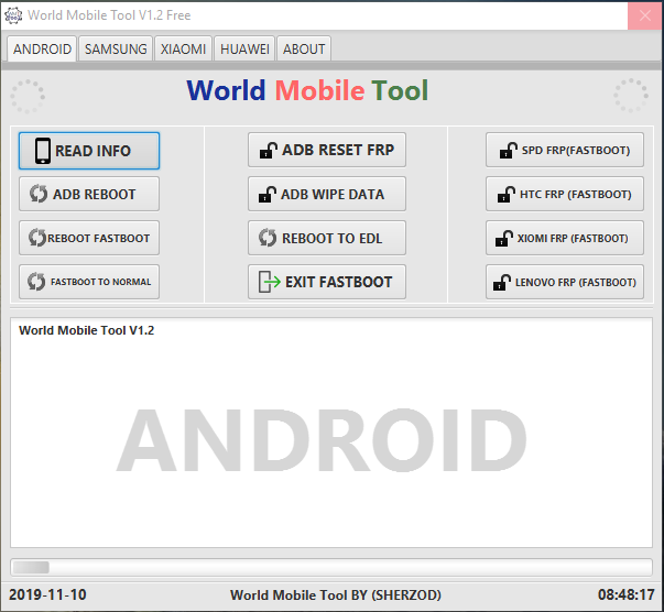 Download Android World Mobile Tool V1.2 Samsung, FRP Unlock, Bypass Huawei, Xiaomi Tools Free For All by Jonaki Telecom