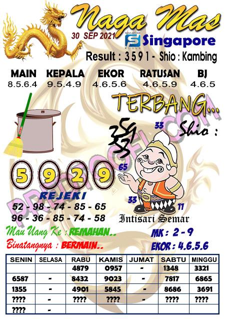 Syair Nagamas SGP45 Kamis 30 September 2021