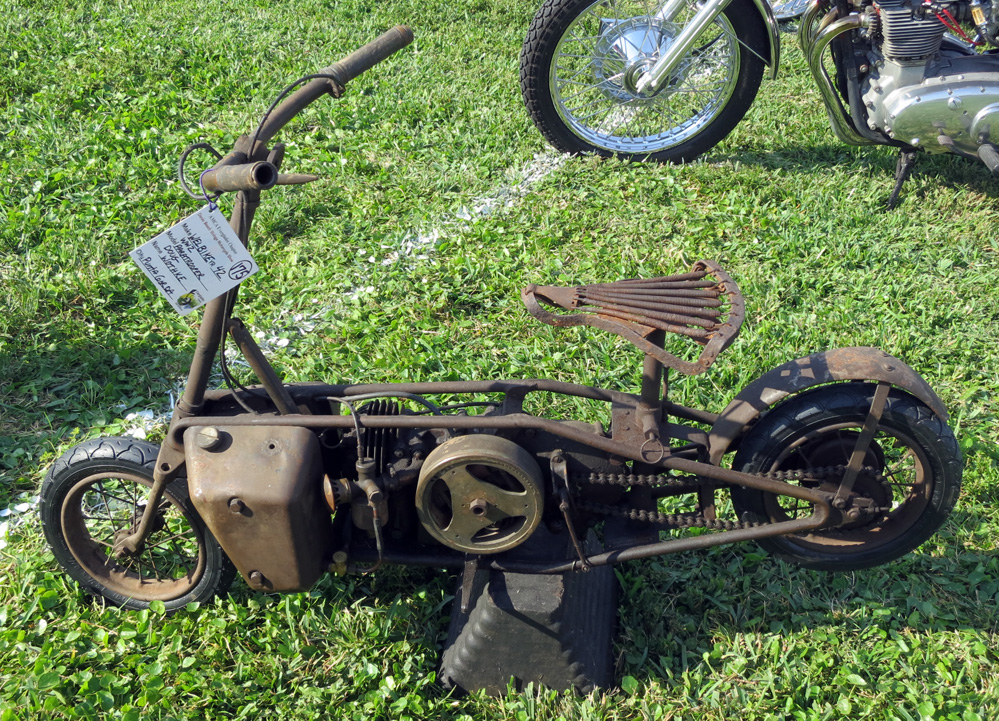 Small folding motorcycle.