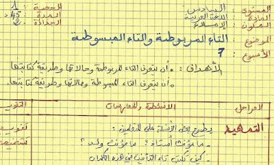 جميع جذاذات اللغة العربية المستويين الخامس و السادس بخط اليد