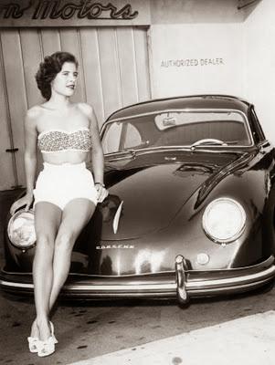 Volkswagen Maggiomodelli 356 Porsche Vintage Foto E Sexy Girl