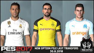 PES 2017 Option File Next Season Patch 2019 v4 Update Summer Transfer 30-8-2018