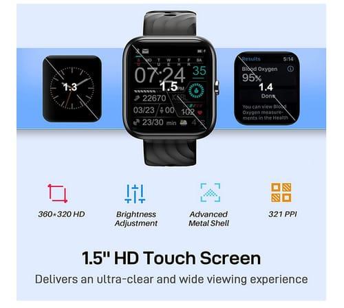 VIR MEE 1.5 Inch HD Touch Screen Fitness Smart Watch