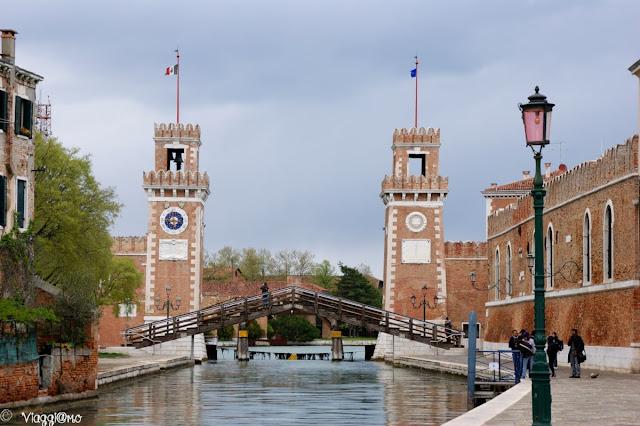 Il vasto complesso dell'Arsenale di Venezia