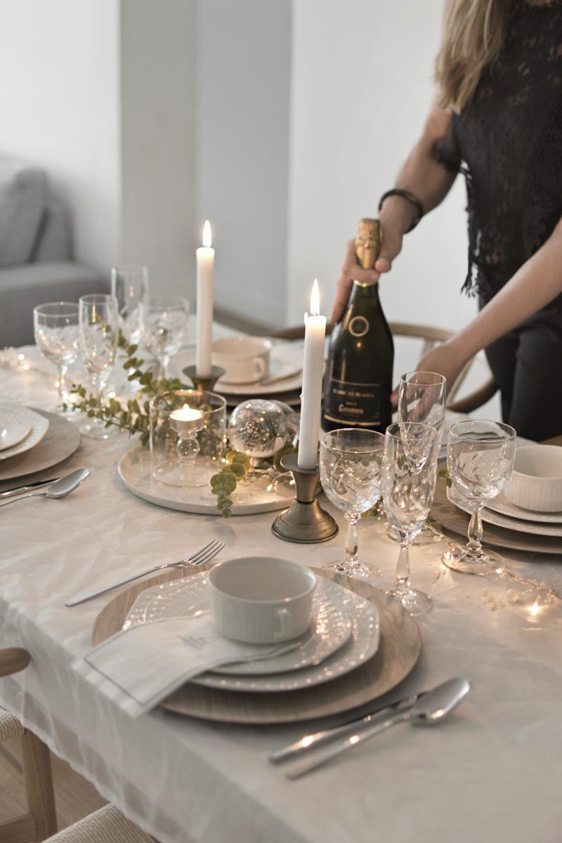 La decoración de nuestra mesa de Navidad / The decoration of our Christmas table