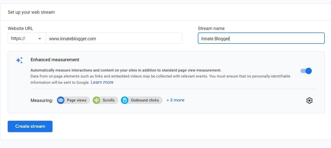 Add Blogger Website URL on Google Analytics