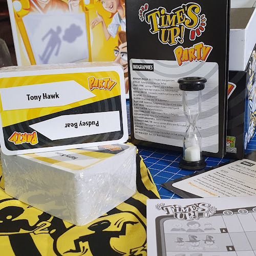 Times Up Party Game Review box contents