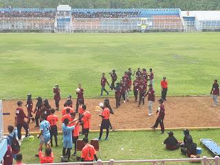 Liga SMK Panca Bhakti Banjarnegara merayakan kemenangan