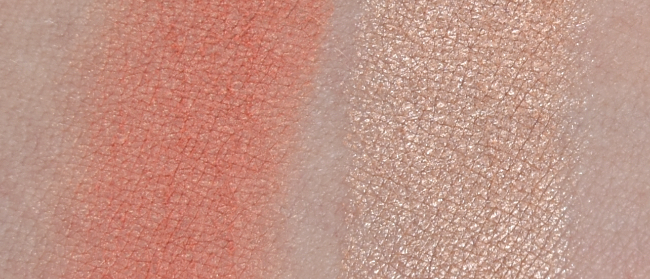 p2 cosmetics - Retro Repats - remember me duo highlighter swatches