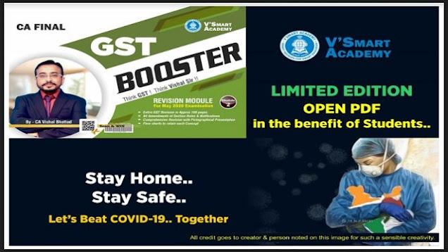 CA Final IDT GST Booster Part-2