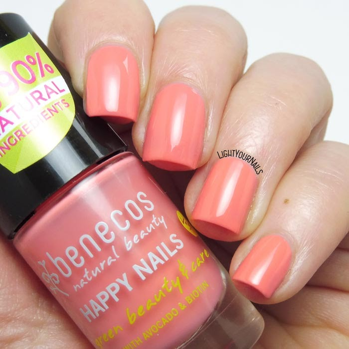 Smalto color pesca Benecos Peach Sorbet peach colored nail polish #nails #unghie #lightyournails #benecos