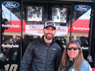 Myrna's first #NASCAR Race Experience and she gets to meet Aric Almirola!