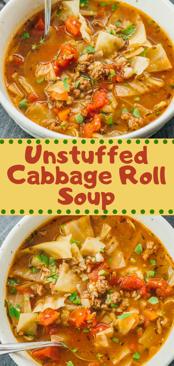 Healthy Recipes | Unstuffed Cabbage Roll Soup, Healthy Recipes For Weight Loss, Healthy Recipes Easy, Healthy Recipes Dinner, Healthy Recipes Pasta, Healthy Recipes On A Budget, Healthy Recipes Breakfast, Healthy Recipes For Picky Eaters, Healthy Recipes Desserts, Healthy Recipes Clean, Healthy Recipes Snacks, Healthy Recipes Low Carb, Healthy Recipes Meal Prep, Healthy Recipes Vegetarian, Healthy Recipes Lunch, Healthy Recipes For Kids, Healthy Recipes Crock Pot, Healthy Recipes Videos, Healthy Recipes Weightloss, Healthy Recipes Chicken, Healthy Recipes Heart, Healthy Recipes For One, Healthy Recipes For Diabetics, Healthy Recipes Smoothies, Healthy Recipes For Two, Healthy Recipes Simple, Healthy Recipes For Teens, Healthy Recipes Protein, Healthy Recipes Vegan, Healthy Recipes For Family, Healthy Recipes Salad, Healthy Recipes Cheap, Healthy Recipes Steak, Healthy Recipes For School, Healthy Recipes Slimming World, Healthy Recipes Fitness, Healthy Recipes Baking, Healthy Recipes Sweet, Healthy Recipes Indian, Healthy Recipes Summer, Healthy Recipes Vegetables, Healthy Recipes Diet, Healthy Recipes No Meat, Healthy Recipes Asian, Healthy Recipes On The Go, Healthy Recipes Fast, Healthy Recipes Ground Turkey, Healthy Recipes Rice, Healthy Recipes Mexican, Healthy Recipes Fruit, Healthy Recipes Tuna, Healthy Recipes Sides, Healthy Recipes Zucchini, Healthy Recipes Broccoli, Healthy Recipes Spinach,  #healthyrecipes #recipes #food #appetizers #dinner #unstuffed #cabbage #soup