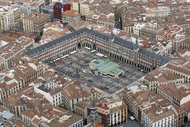 Vista aérea da Plaza Mayor em Madri