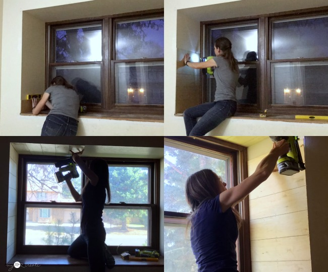 planking the inside of the window