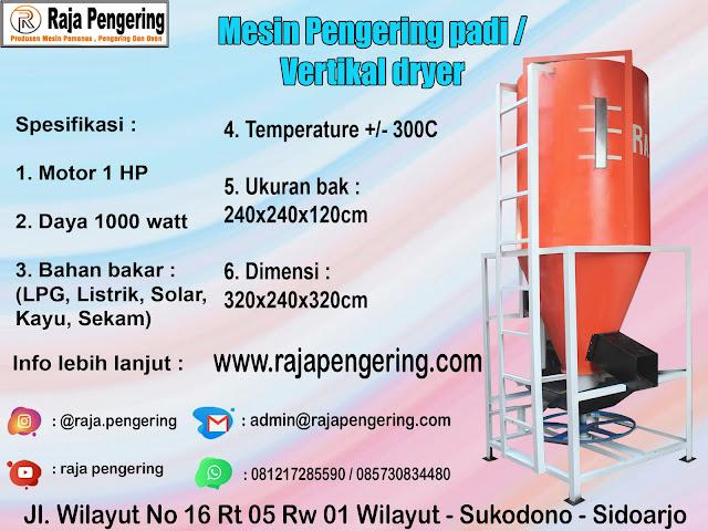 mesin pengering padi, alat pengering padi, pengering padi vertikal