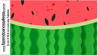 Watermelon Heart: Free Printable Candy Bar Labels.