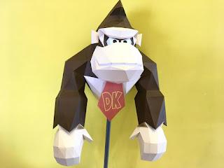 donkey kong papercraft rondipaper