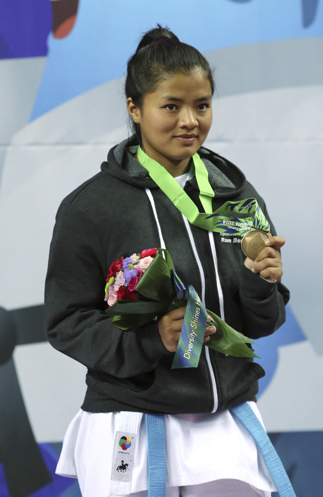 bimala wins bronze medal at karate