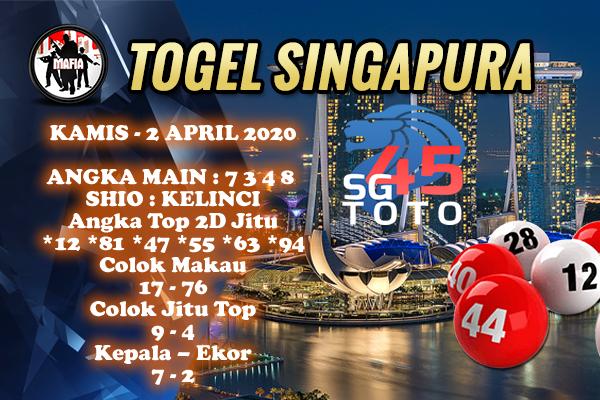 Bocoran Togel Singapura Kamis 02 April 2020 - Prediksi Mafia SGP