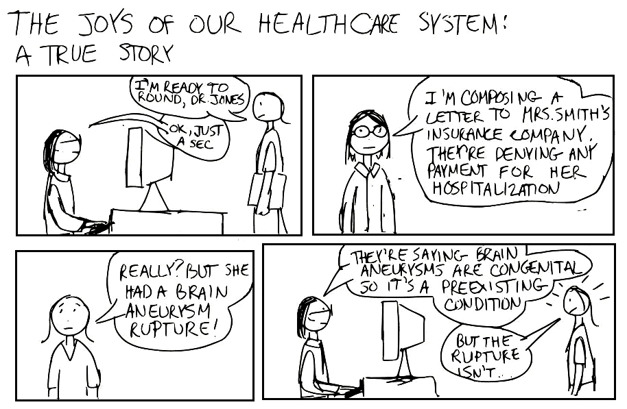 A Cartoon Guide To Becoming A Doctor Health Insurance Sucks