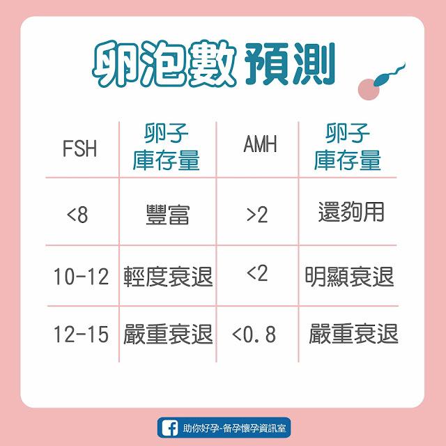AMH值、FSH值,卵子數量、卵泡預測